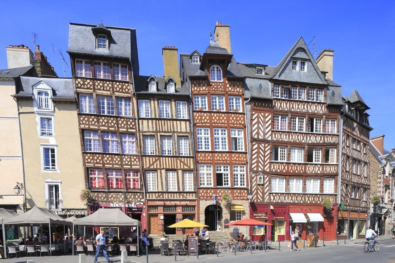 Vieilles maisons à Rennes